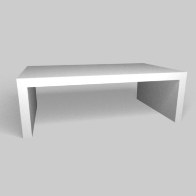 Free C4d Model Modern White Coffee Table