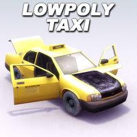 city taxi 3d model