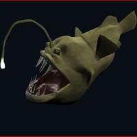 3d angler fish