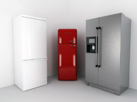 3d model bosch smeg fridge