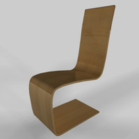 cinema4d beech wood spring chair