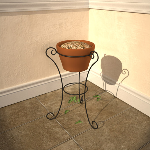 3d model plant container stand - Plant Container with Stand... by Bubbaloo