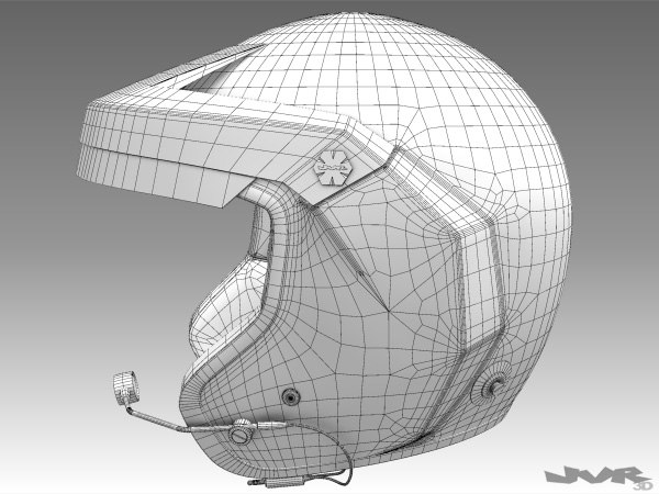 rally helmet max - Rally Car Helmet... by jvr3D