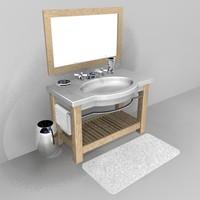 modern bathroom vanity c4d free