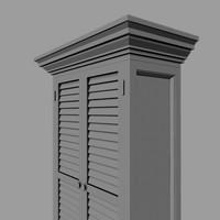 drexel cupboard 3d max