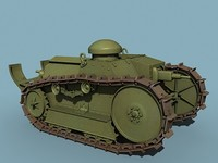 m1918 tank 3d model