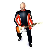 3d model male guitarist guitar