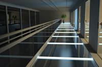 3d modern hall model