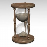3d model of hourglass hour glass