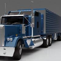 semi truck 3d max