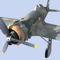 3ds max airplane macchi fighter aircraft