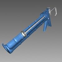 mastic gun 3d model