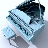 3ds max piano stool