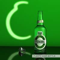 Tuborg beer bottle