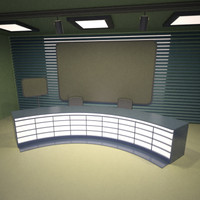 tv studio 3d 3ds