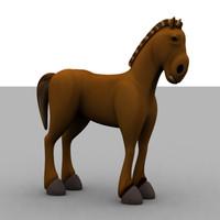 cartoon horse max