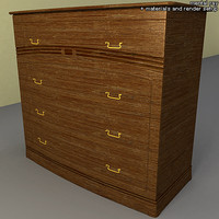 3d chest interior model