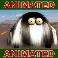 comic hair animation 3d model