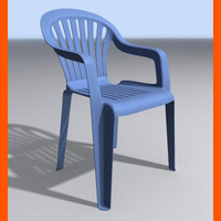3d max plastic chair