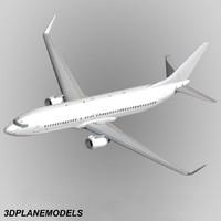 maya b737-800 generic white 737