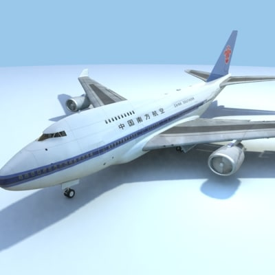 747-sp china southern 3d obj - 747-sp-China Southern... by Wydler Studios
