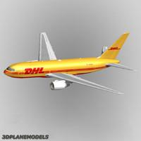 dhl 767-200f 767 3d model