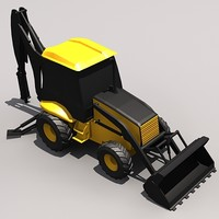 Low Poly BL70 Back Hoe Loader.MAX