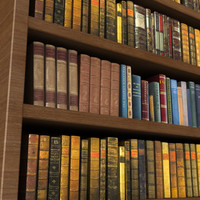 3d max bookcase books