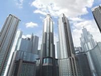 3d model skyscrapers building