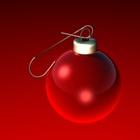 3d model christmas ornament