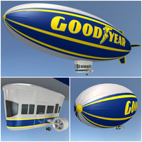 3d model goodyear blimp years