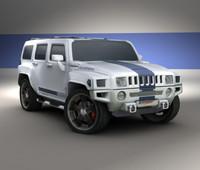 3d model hummer h3