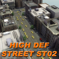 maya city building hd street