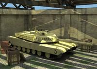 3d model m1a2 tank