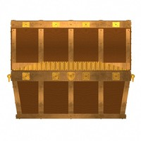 Pirates Chest  angled sides with coins