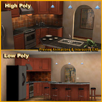kitchen example 3d model