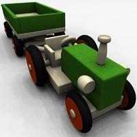 wooden toy 3d c4d