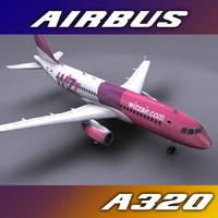 3d wizzair aircraft a320s