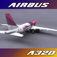 3d wizzair aircraft a320s