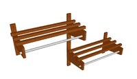 wood hospitality coat racks 3ds