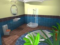 toilet bath 3d max