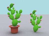 3dsmax opuntia cactus