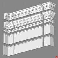 3d decor cornice model