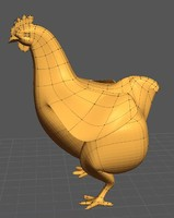 3d model of low-poly chicken fat