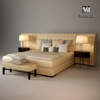 flexform caress bed 3d model