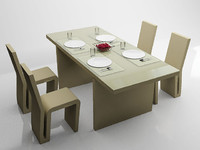 frank gehry dining table 3d model
