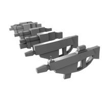 3d model of rifles