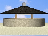 3d kiosk beaches resorts model
