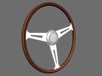 3ds max wood-rimmed steering wheel