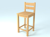 Bar Stool Wood Seat L-Ant Rustic